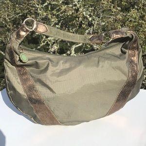 Le Sportsac Olive Bronze Hobo Bag